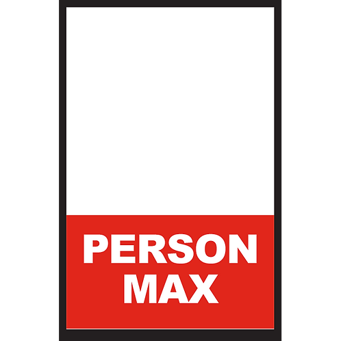 Series 2: Fillable/Blank Person Max - Poster/Sign