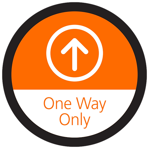 """Series 4: One Way Only Up Arrow - Floor Graphic-Circle 17"""""""