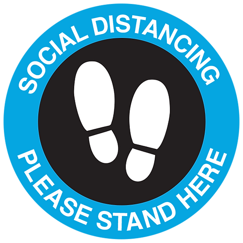 Series 3: Social Distancing Please Stand here - Floor Graphic-Circle 17""