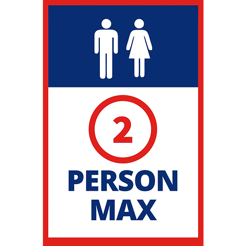 Series 1: Maximum 2 Persons - Poster/Sign
