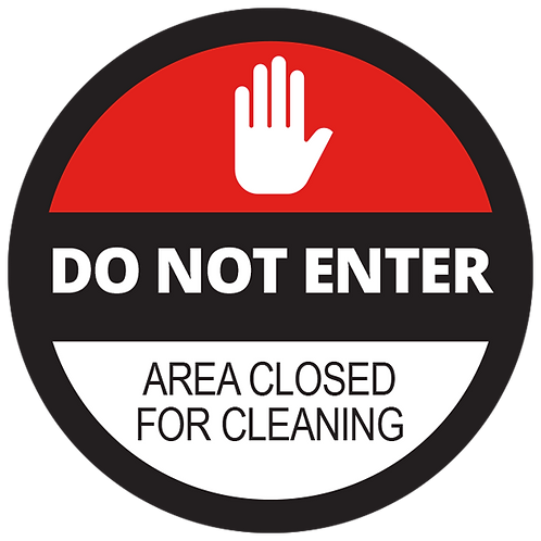"""Series 2: Area Closed for Cleaning Floor Graphic-Circle 17"""""""