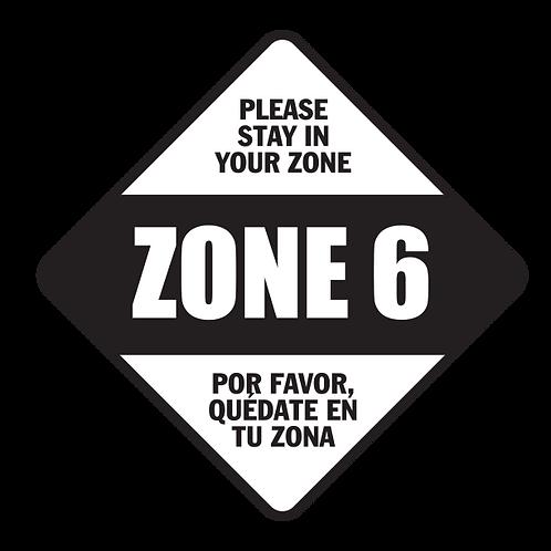 "Please Stay in Your Zone: 6 - Floor Graphic-Diamond 17"""