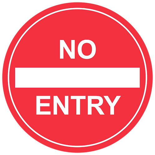 "No Entry - Floor Graphic-Circle 17"""