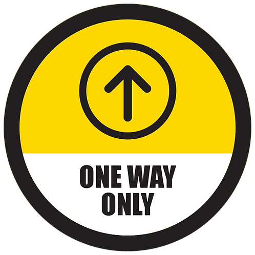 Series 5: One Way Only Up Arrow- Floor Graphic-Circle 17""
