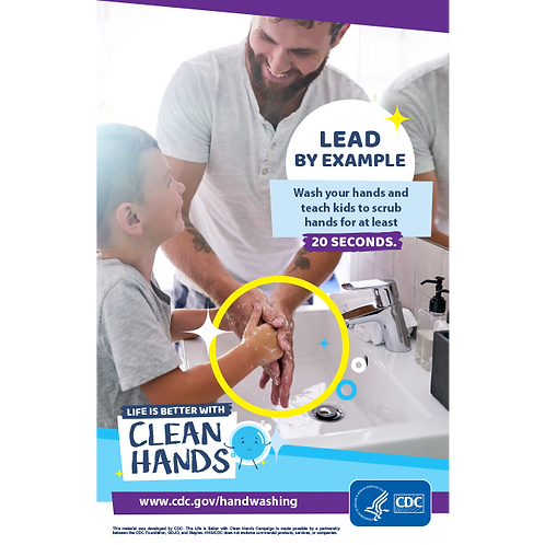 Clean Hands- Family - CDC Official Poster