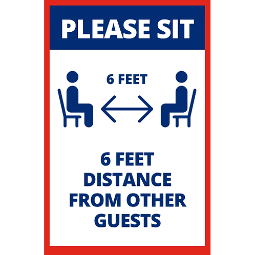 6ft Distance From Other Guests - Poster/Sign