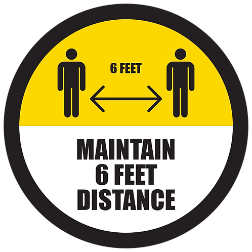 Series 5: Maintain 6 Feet Distance - Floor Graphic-Circle 17""