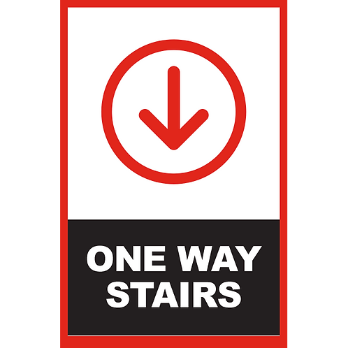 Series 2: One Way Stairs (Arrow Down) - Poster/Sign