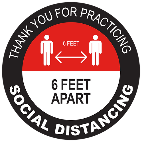 Series 2: Thank You for Practicing Social Distancing - Floor Graphic-Circle