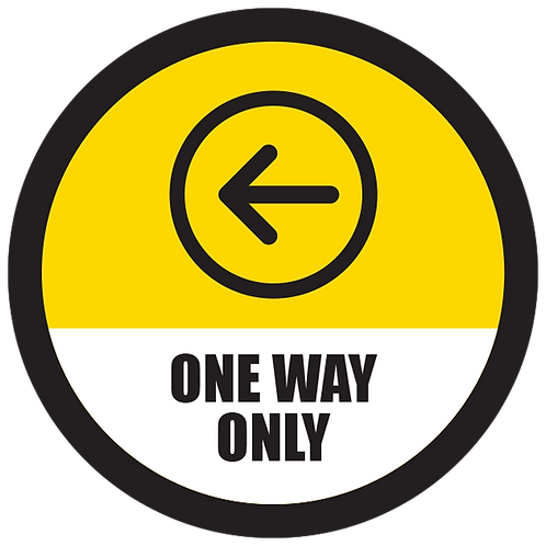 """Series 5: One Way Only Left Arrow- Floor Graphic-Circle 17"""""""