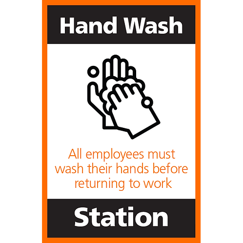 Series 4: Hand Wash Station - Poster/Sign