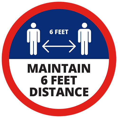 Series 1: Maintain 6 Feet Distance - Floor Graphic-Circle 17""