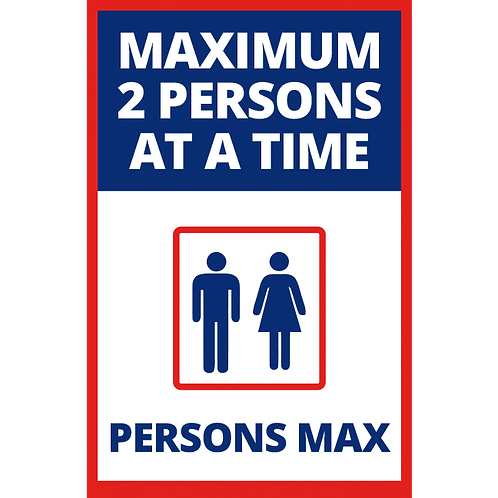 Series 1: 2 Persons Max- Elevator - Poster/Sign