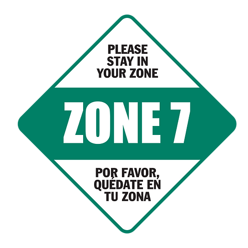 "Please Stay in Your Zone: 7 - Floor Graphic-Diamond 17""​​​​​​​​​​​​​​​​​​"