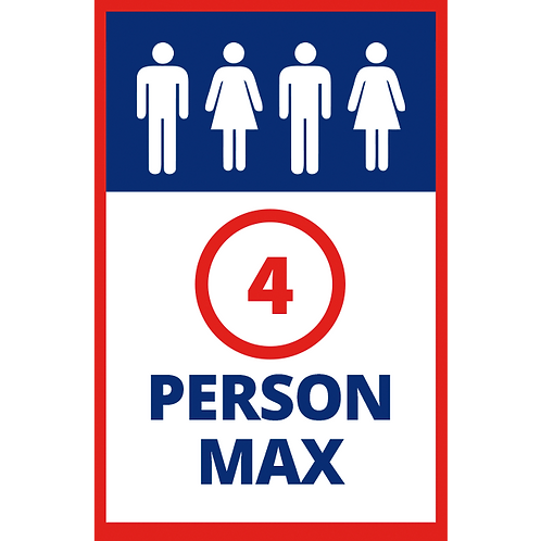 Series 1: Maximum 4 Persons - Poster/Sign