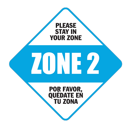 "Please Stay in Your Zone: 2 - Floor Graphic-Diamond 17""​​​​​​​​​​​"