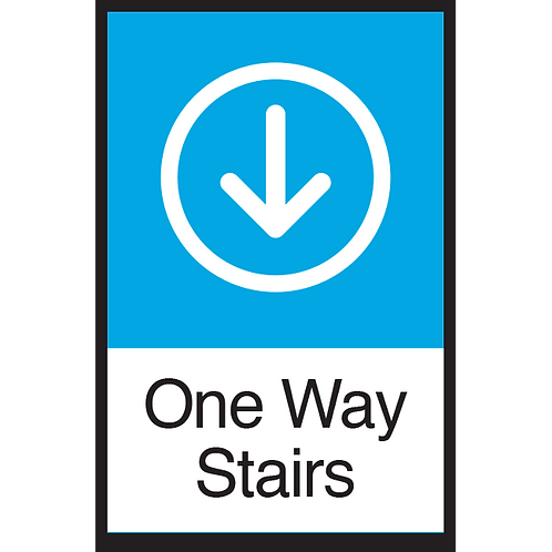 Series 3: One Way Stairs (Down Arrow) - Poster/Sign