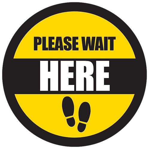 Series 5: Please Wait Here - Floor Graphic-Circle 17""