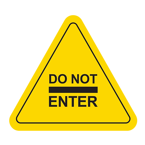 "Do Not Enter (Yellow) - Floor Graphic-Triangle 17""​​​​​​​"