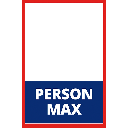 Series 1: Person Max Fillable - Poster/Sign
