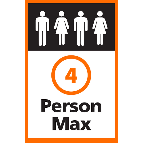 Series 4: 4 Person Max - Poster/Sign