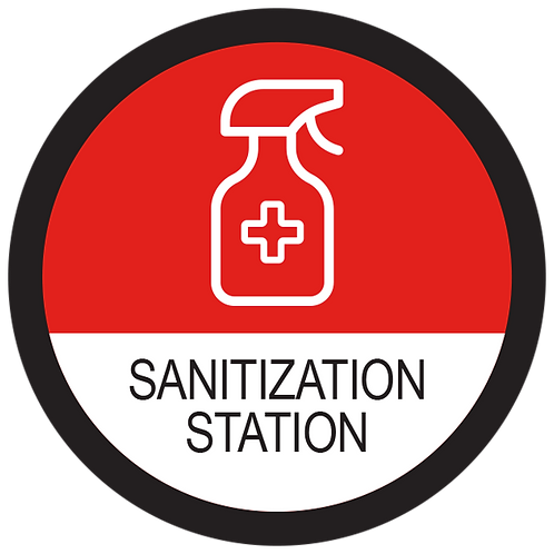 Series 2: Sanitization Station - Floor Graphic-Circle 17""