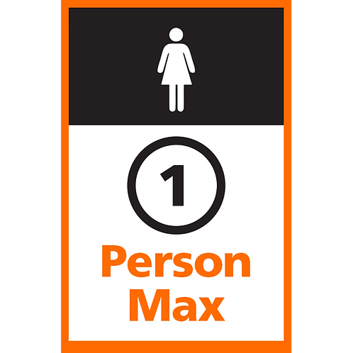 Series 4: 1 Person Max (Female) - Poster/Sign