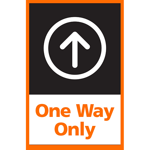Series 4: One Way (Up Arrow) - Poster/Sign
