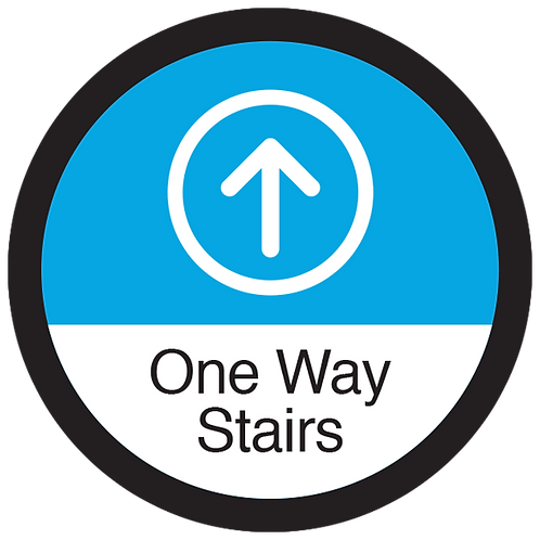 """Series 3: One Way Stairs Up Arrow - Floor Graphic-Circle 17"""""""