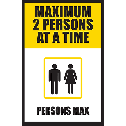 Series 5: Elevator Maximum 2 Persons at a Time - Poster/Sign