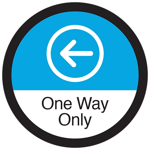 Series 3: One Way Only Left Arrow - Floor Graphic-Circle 17""