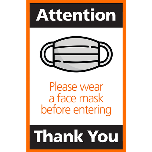 Series 4: Please Wear a Face Mask Before Entering- Poster/Sign