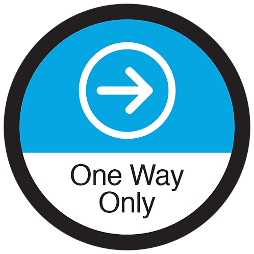 Series 3: One Way Only Right Arrow - Floor Graphic-Circle 17""