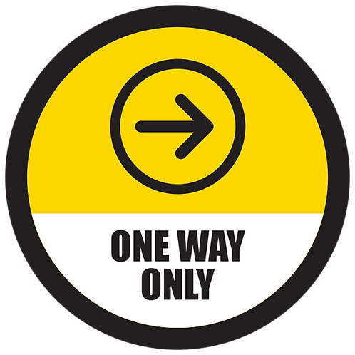 Series 5: One Way Only Right Arrow- Floor Graphic-Circle 17""