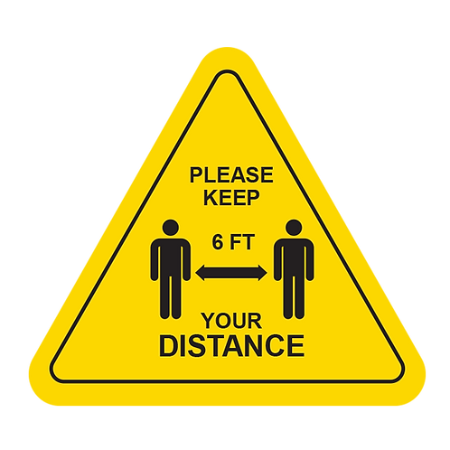 "Please Keep Your Distance (Yellow) - Floor Graphic-Triangle 17""​​​​​​​"