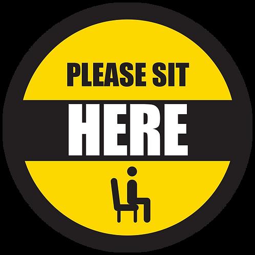 "Series 5: Please Sit Here - Floor Graphic-Circle 17"""