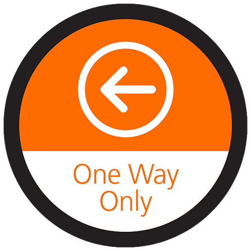 Series 4: One Way Only Left Arrow - Floor Graphic-Circle 17""