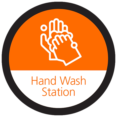 Series 4: Hand Wash Station - Floor Graphic-Circle 17""