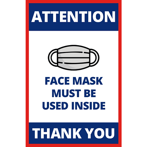 Series 1: Fask Must Be Used Inside - Poster/Sign