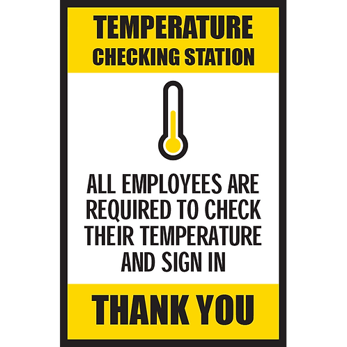 Series 5: Temperature Checking Station- Poster/Sign