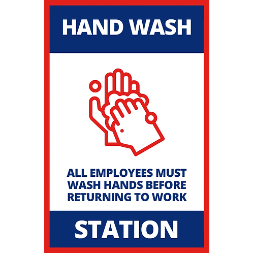Series 1: Hand Wash Station - Poster/Sign