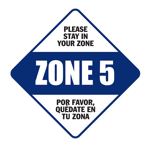 "Please Stay in Your Zone: 5 - Floor Graphic-Diamond 17"""