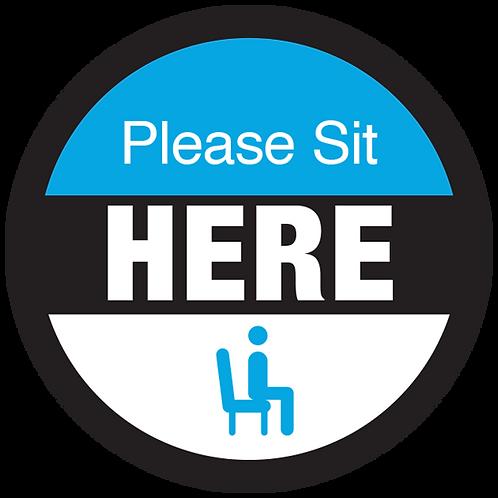 "Series 3: Please Sit Here - Floor Graphic-Circle 17"""