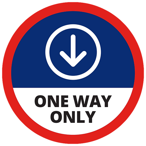 Series 1: One Way Only (Down Arrow) - Floor Graphic-Circle 17""