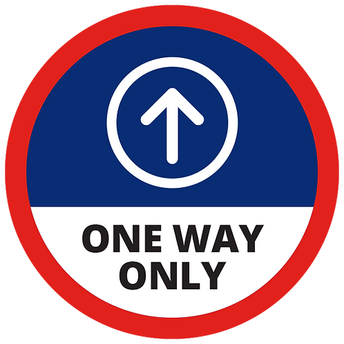 Series 1: One Way Only (Up Arrow) - Floor Graphic-Circle 17""