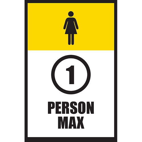 Series 5: 1 Person Max (Female) - Poster/Sign