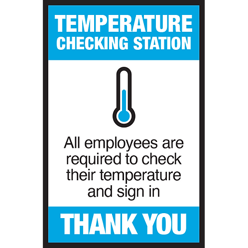 Series 3: Temperature Checking Station- Poster/Sign