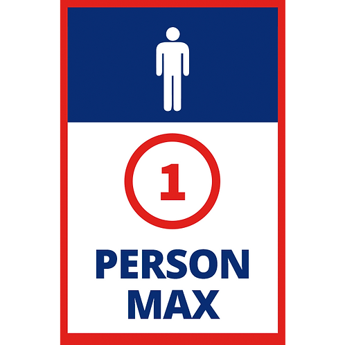 Series 1: 1 Person Max Male - Poster/Sign