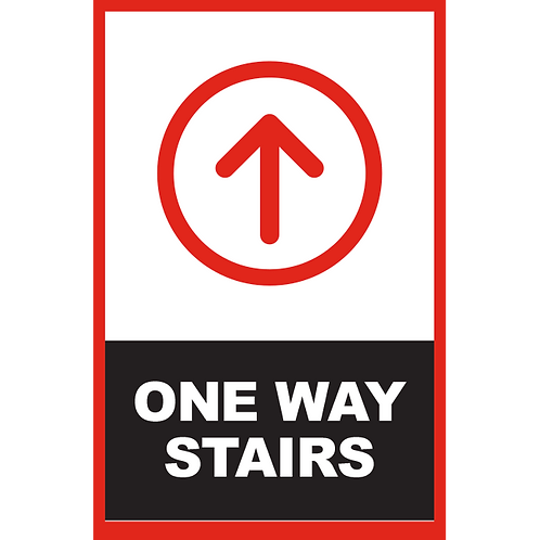 Series 2: One Way Stairs (Arrow Up) - Poster/Sign