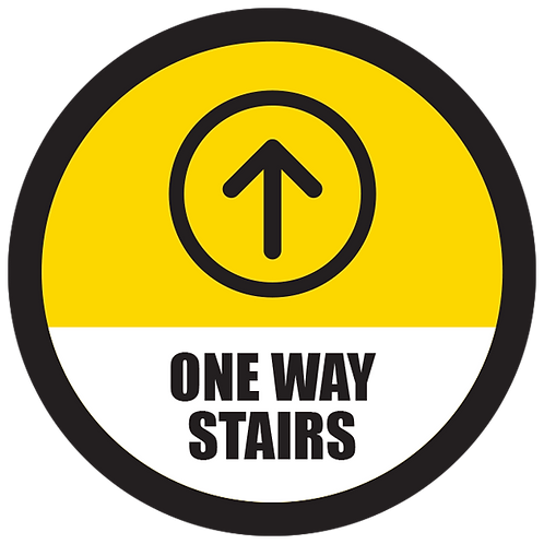 Series 5: One Way Stairs Up Arrow - Floor Graphic-Circle 17""